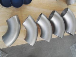 Titanium elbows for chemical plant